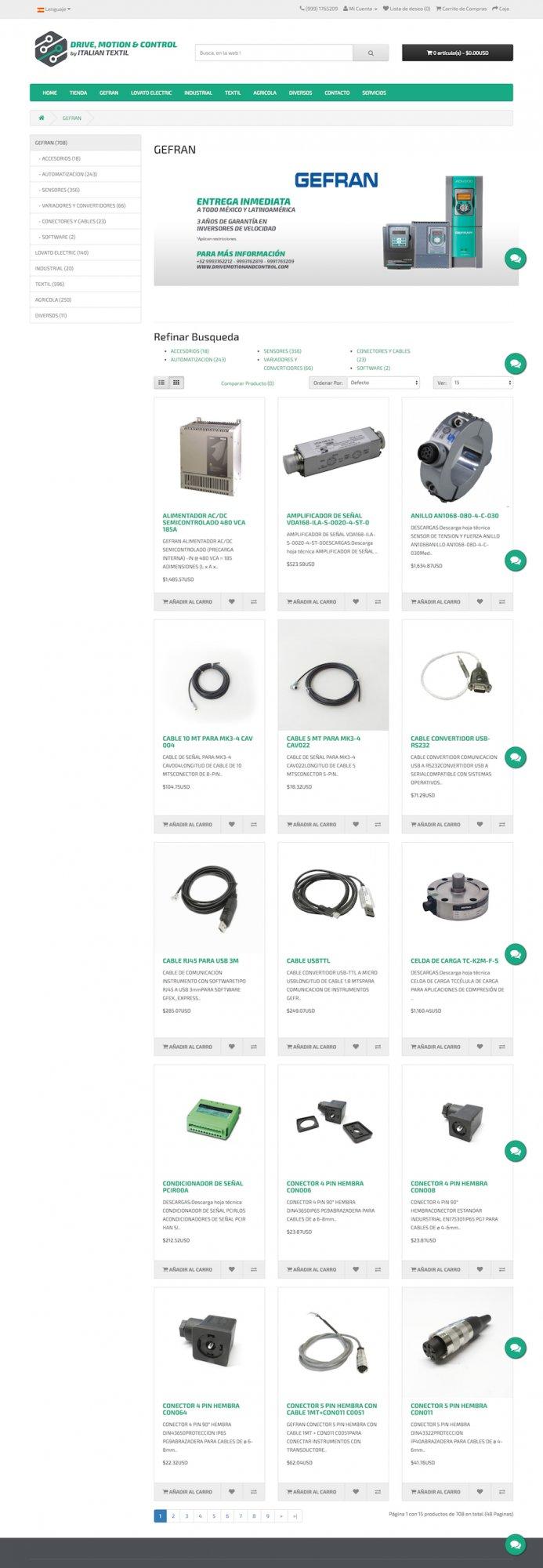 sitio web, diseño industrial, tienda en linea, industrial web store