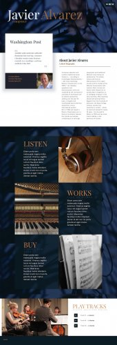 Javier Alvarez website, online digital store, music website for musician, composer, artist