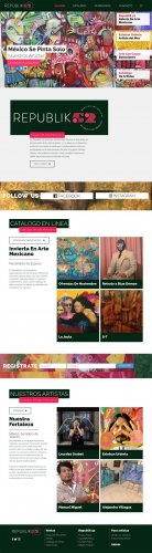 Sitio web para galería de arte, website for a Mexican art gallery